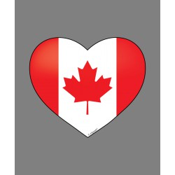 Sticker - Canadian Heart, for car, notebook, smartphone