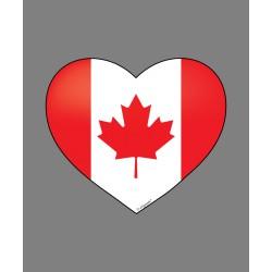 Sticker - Coeur canadien - pour voiture, pc portable, smartphone, tablette
