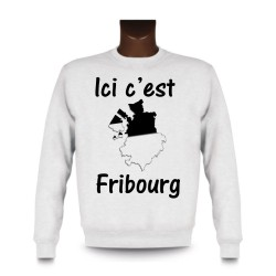 Women's or Men's Sweatshirt - Ici c'est Fribourg