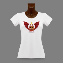 Donna Slim Funny T-Shirt - Alien Smiley - Devil Vampyr