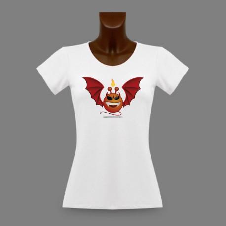Women's Slim Funny T-Shirt - Alien Smiley - Devil Vampyr