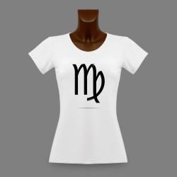 T-Shirt moulant - signe astrologique Vierge - pour dame