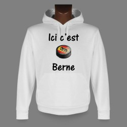 Hooded Funny Sweat - Ice Hockey - Ici c'est Berne