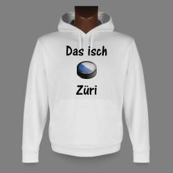 Kapuzen-Sweatshirt - Eishockey Puck - Das isch Züri