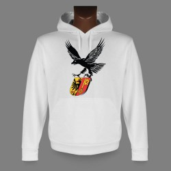 Women's or Men's Hooded Funny Sweat - Eagle and Geneva coat of arms