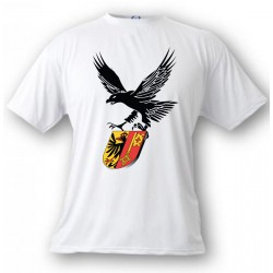 T-Shirt -Adler und Genfer Wappen - für Frauen oder Herren, White