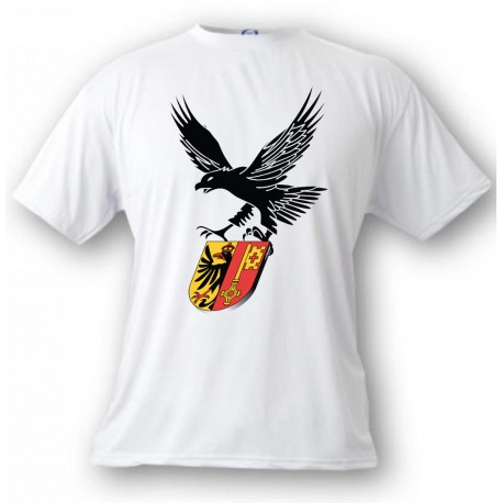 Men's or Women's T-Shirt - Eagle and Geneva coat of arms, White