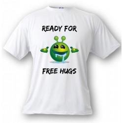 T-Shirt - Ready for free Hugs - für Frauen oder Herren, White