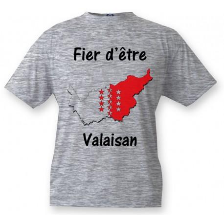 Kinder T-shirt - Fier d'être Valaisan, Ash Heater