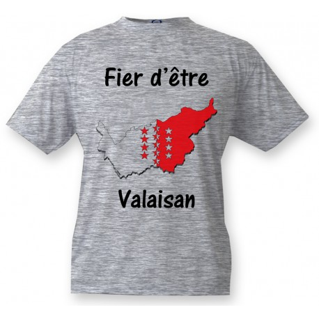 Kids T-shirt - Fier d'être Valaisan, Ash Heater