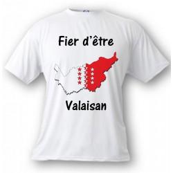 Kids T-shirt - Fier d'être Valaisan, White