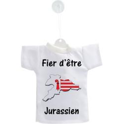 Mini T-shirt - Fier d'être Jurassien - pour votre voiture
