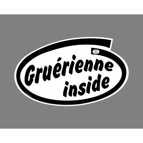 Car Sticker - Gruérienne inside