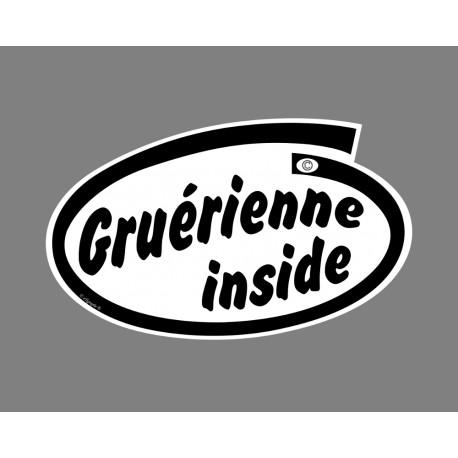 Sticker humoristique - Gruérienne inside - pour voiture