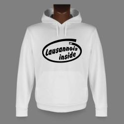 Kapuzen-Sweatshirt - Lausannois inside - für Frauen oder Herren