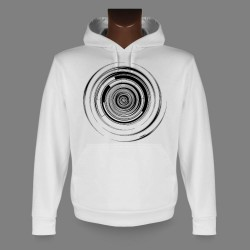 Hooded Funny Sweat - Techno-spiral