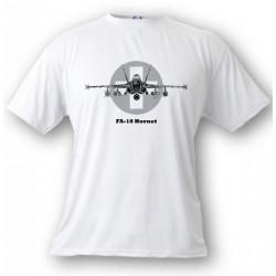 Kampfflugzeug Kinder T-shirt - Swiss FA-18 Hornet, White