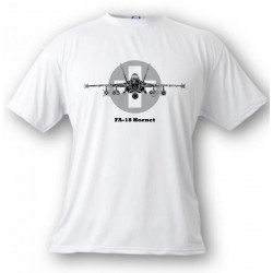T-shirt enfant aviation - Swiss FA-18 Hornet, White