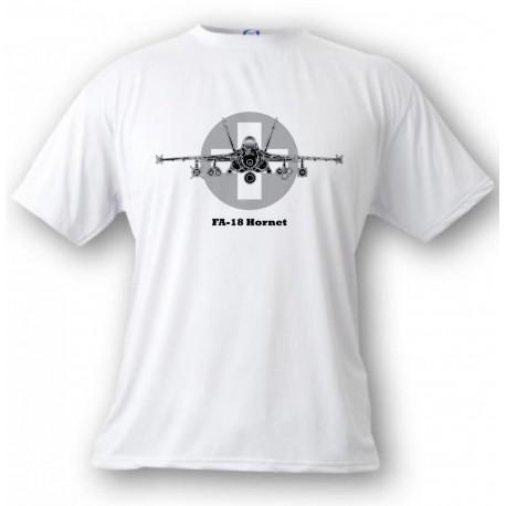 T-shirt enfant aviation - Swiss FA-18 Hornet, White