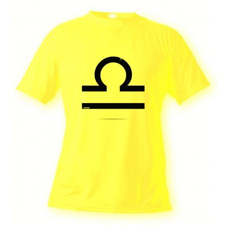 Donna o Uomo Segno Zodiacale T-shirt - Libra, Safety Yellow