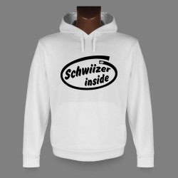 Hooded Funny Sweat - Schwiizer inside