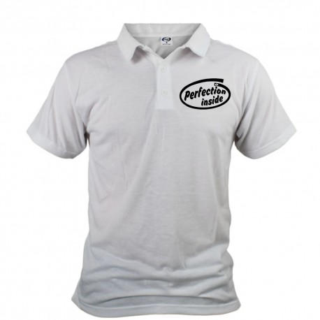 Men's Polo shirt - Perfection inside, White