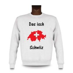Donna o Uomo Sweatshirt - Das isch Schwiiz - Map 3D, White
