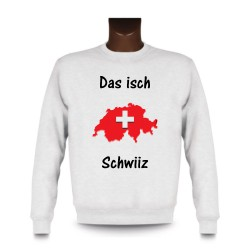 Women's or Men's Sweatshirt - Das isch Schwiiz - Map 3D