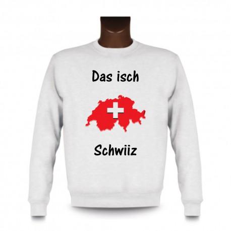 Sweat pour femme ou homme - Das isch Schwiiz - Map 3D, White