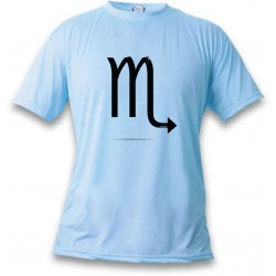 Women's or Men's astrological sign T-shirt - Scorpio, Blizzard Blue