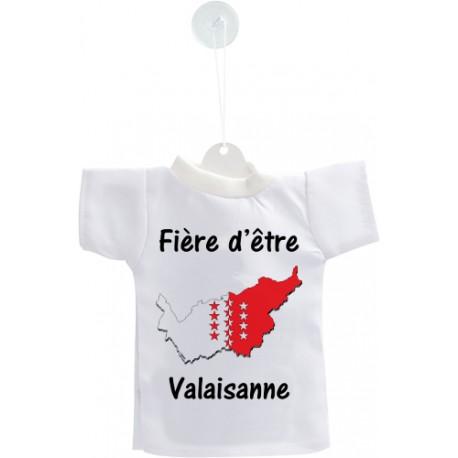 Mini T-shirt - Fière d'être Valaisanne - pour votre voiture
