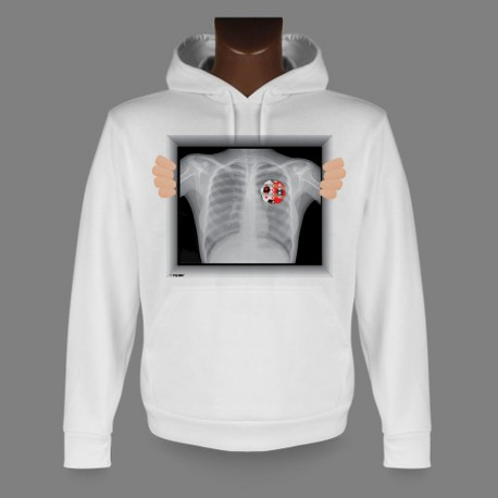 Hooded Funny Sweat - X-Ray Valais Soccer
