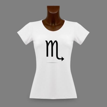 T-Shirt moulant - signe Scorpion - pour dame