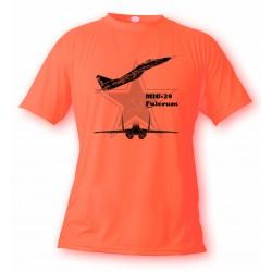 T-Shirt aviation -  MiG-29 Fulcrum - pour femme ou homme, Safety Orange