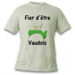 T-Shirt - Fier d'être Vaudois - pour femme ou homme, November White