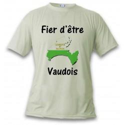 T-Shirt - Fier d'être Vaudois - für Frauen oder Herren, November White
