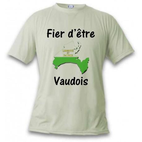 Men's or Women's T-Shirt - Fier d'être Vaudois, November White