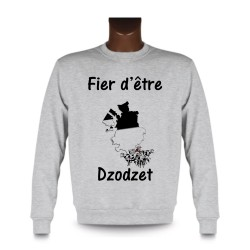Men's Sweatshirt - Fier d'être Dzodzet, Ash Heater