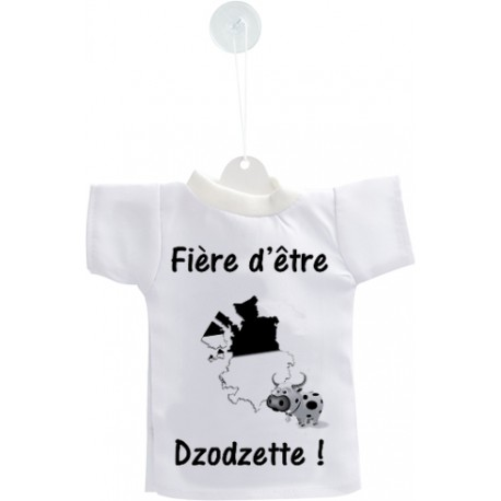 Mini T-Shirt - Fière d'être Dzodzette, per automobile
