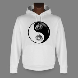 Hooded Funny Sweat - Yin-Yang - Tribal Dragon Head
