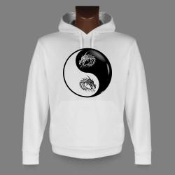Kapuzen-Sweatshirt - Yin-Yang - Tribal Drache Kopf