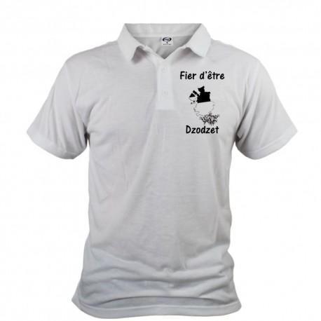 Men's Polo Shirt - Fier d'être Dzodzet, Front