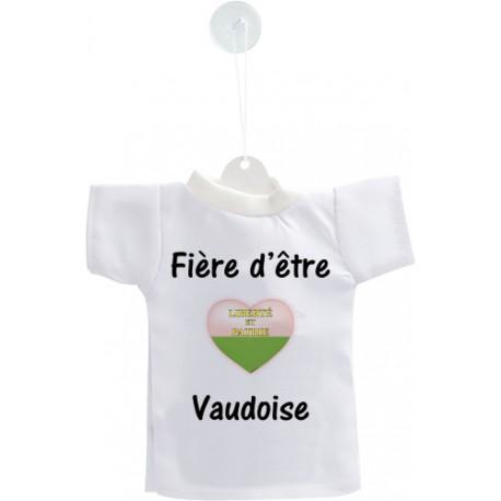 Mini T-shirt - Fière d'être Vaudoise - pour votre voiture
