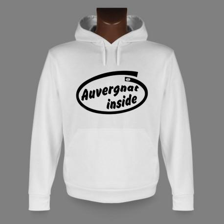 Sweatshirt blanc à capuche - Auvergnat inside