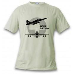 T-Shirt Kampfflugzeug - Swiss F-5 Tiger - für Frauen oder Herren, November White