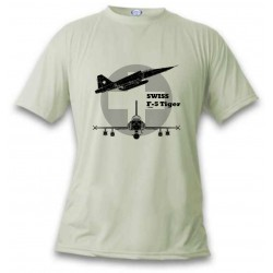 Women's or Men's Fighter Aircraft T-shirt  - Swiss F-5 Tiger, November White