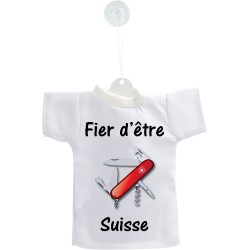 Car's Mini T-Shirt - Fier d'être Suisse - coltellino svizzero, per automobile