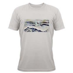 "T-Shirt ""Over the Mountains"", November White"