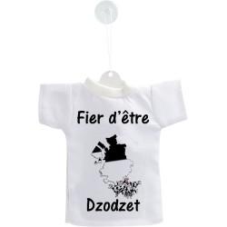 Mini T-shirt - Fier d'être Dzodzet - pour votre voiture