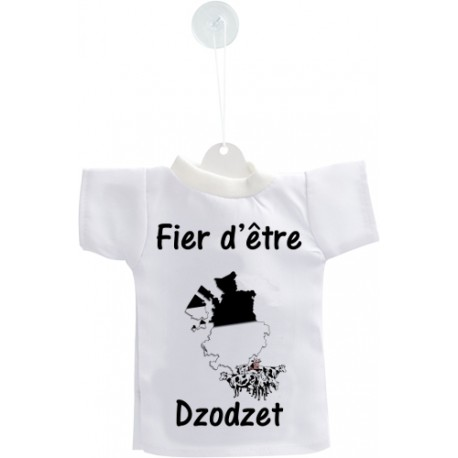 Mini T-Shirt - Fier d'être Dzodzet, per automobile